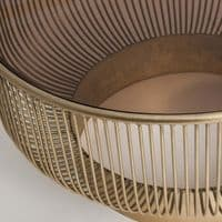 Arrani Art Deco Inspired Round Old Gold Coffee Table